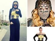 Thời trang Sao - Huyền Ny gây sốc khi nhái Madonna ngày đầu xuân