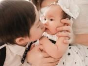 Làng sao sony - Con trai Lý Hải yêu chiều em gái mới sinh
