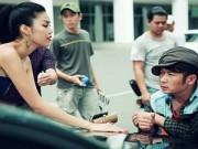 Hậu trường - Lan Khuê kể chuyện hôn Bằng Kiều trong phim mới
