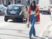 Thời trang - Tín đồ thời trang Milan mặc quần loe đổ xô ra phố