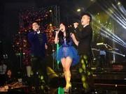 Làng sao - The Men, Hương Tràm ăn ý trên sân khấu quê nhà