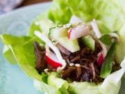 Thực đơn – Công thức - Xà lách cuộn thịt bò kiểu Hàn ngon mê