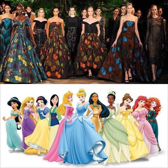 Có rất nhiều thiết kế lộng lẫy như trong các câu chuyện cổ tích được giới thiệu từ tuần lễ thời trang thu đông 2015 vừa qua. Ngắm nhìn những người mẫu trong các bộ váy đầm xa hoa, người xem không thể không nghĩ tới hình ảnh những nàng công chúa nổi tiếng của Walt Disney như Công chúa ngủ trong rừng, công chúa Lọ lem hay Nàng tiên cá. Cũng chiêm ngưỡng những bộ váy đẹp đến 'nghẹt thở' trong tuần lễ thu đông 2015 vừa qua.