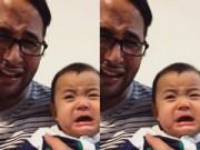 Làm mẹ - Ngộ nghĩnh: Bố khóc, con khóc theo