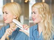 Làm đẹp - 3 phút tự làm kiểu tóc xoăn đang được ưa chuộng