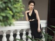 Thời trang - Hoa hậu Việt sáng rạng ngời với trang phục đen