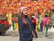 Ngọc Anh xinh đẹp một mình đi du lịch châu Á