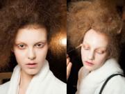 Trang điểm - Mốt nhuộm lông mi trắng 'đổ bộ' show Alexander McQueen