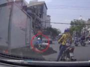 Clip Eva - Cô gái bị ôtô đâm thoát chết khi sang đường