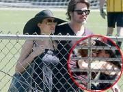 Hậu trường - Bắt gặp vợ chồng Brad Pitt ôm hôn thắm thiết