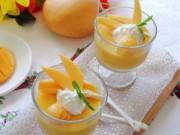 Thực đơn – Công thức - Pudding xoài thơm ngon, thanh mát
