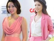 Thời trang Sao - Kỳ Duyên liên tục mất điểm vì màu hồng sến