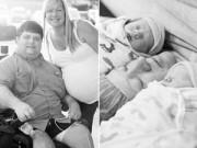 Sau sinh - Cảm động chồng bị liệt vẫn xin vào phòng sinh cùng vợ