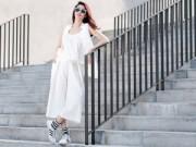 Thời trang Sao - Mặc 'cây trắng' gợi cảm và năng động như Khánh My