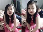 Dạy con - Bé gái Thái Nguyên xinh đẹp hút 13 nghìn likes