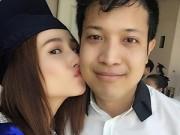 Hậu trường - Diễm My 9X hôn bạn trai trong lễ tốt nghiệp