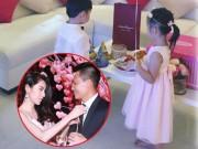 Làng sao - Con gái Thủy Tiên diện váy hồng đáng yêu ngày sinh nhật