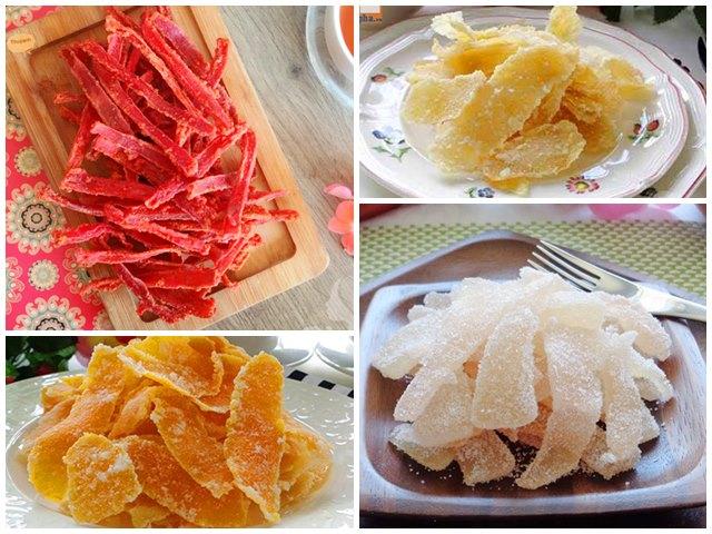 Những món mứt ngon từ vỏ hoa quả
