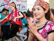 Làng sao - HH Kỳ Duyên diện đồ dân tộc Thái nhảy sạp ở Nghệ An