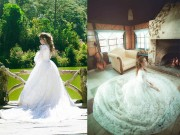 Thời trang - Mỹ Tâm gợi cảm bất ngờ khi mặc váy cưới