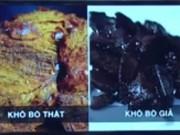 Lật tẩy chiêu trò 'chế' phổi heo và hóa chất thành thịt bò khô