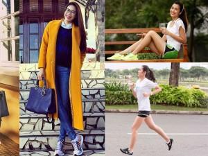 Diện giày thể thao chất như Hà Tăng, Phạm Hương