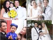 Làng sao - 4 sao Việt khoe con trong đám cưới