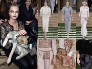 Thời trang - Cara Delevingne mặc xuyên thấu táo bạo xem show Chanel