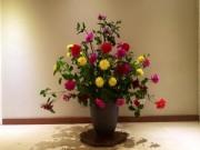 Nhà đẹp - Học trai Hà Nội cắm hoa thược dược đẹp mê ly