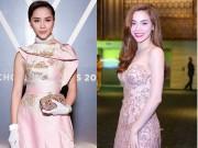 Thời trang - Tuần qua: Sao Việt đẹp nao lòng với màu hồng thạch anh
