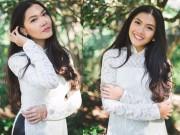 Thời trang - Cô gái Việt cao 1m79 ở Mỹ gợi cảm với áo dài trắng