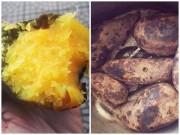 Bếp Eva - Xôn xao cách nướng khoai cực ngon bằng thìa inox