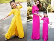 Làng sao - Con gái HH Ngọc Diễm mặc áo dài duyên dáng bên mẹ