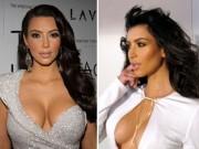 Kim Kardashian nâng ngực trong 1 phút bằng... băng dính