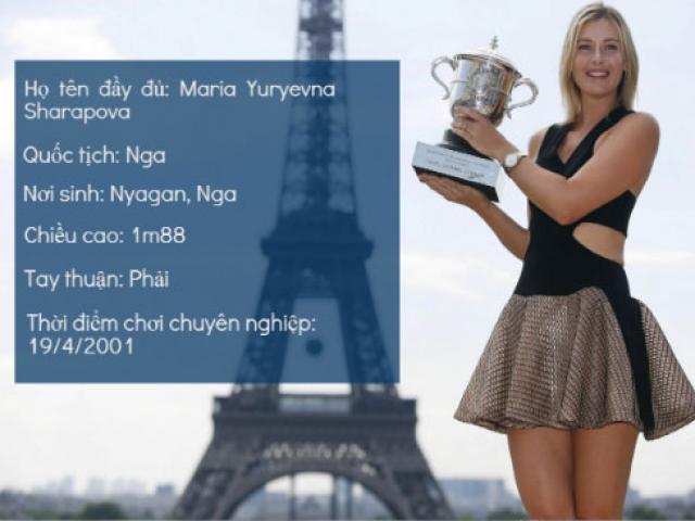 """(Infographic) Sharapova: Sự nghiệp lừng danh """"tàn"""" vì doping"""