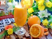 Bếp Eva - Nước ép cam mát lạnh, bổ dưỡng ngày nắng