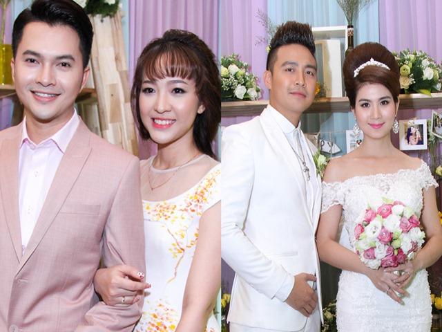 Nam Cường và vợ mới cưới hạnh phúc dự đám cưới Kha Ly