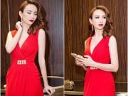 Hoa hậu Ngọc Diễm đẹp hút hồn với váy xẻ sâu