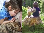 Cô bé tự kỉ nặng cởi mở hơn nhờ chơi với mèo