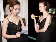"""Hoa hậu Ngọc Diễm gợi cảm  """" tuyệt đối """"  với eo thon, da trắng ngần"""
