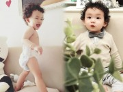 Làm mẹ - Con trai HH Diễm Hương da trắng, tóc xoăn như hotboy