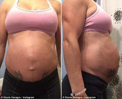 Kinh ngạc với những bà mẹ mang bầu vẫn có múi bụng - 8