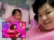 """Bà bầu - Nữ DV """"Hương ga"""" kể chuyện cân vượt mốc 125kg khi đi đẻ"""