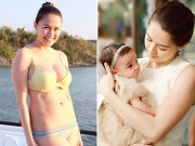 Bà bầu - 'Mỹ nhân đẹp nhất Philippines' khoe eo phẳng lì sau sinh