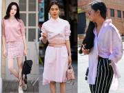 Cách mặc màu hồng đẹp mà không sến cho nữ công sở