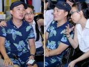 Làng sao - Quang Linh mặc quần hoa đi tổng duyệt cùng Cẩm Ly