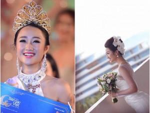 Hoa hậu Bản sắc Việt Thu Ngân kết hôn ở tuổi 21 với doanh nhân hơn 19 tuổi