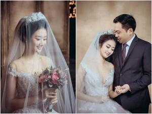 Hoa hậu Bản sắc Việt Thu Ngân hé lộ hậu trường ảnh cưới trước giờ ăn hỏi