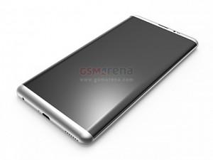 Đã xuất hiện ảnh dựng 3D Galaxy S8: Màn hình cong, không có nút home