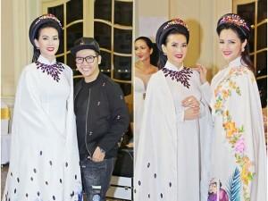 Hai mẹ đơn thân Anh Thư, Diễm Châu đọ vẻ lộng lẫy trong hậu trường